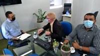 Reunião com Depurado Ubaldo Fernandes e George Presidente Interino da Caern